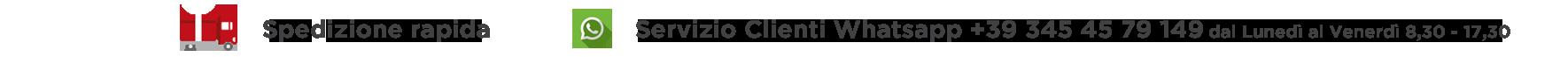 Servizio Clienti Whatsapp +39 345 4579149